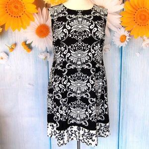 Sandra Darren Black &  White A Line Dress Size 18W